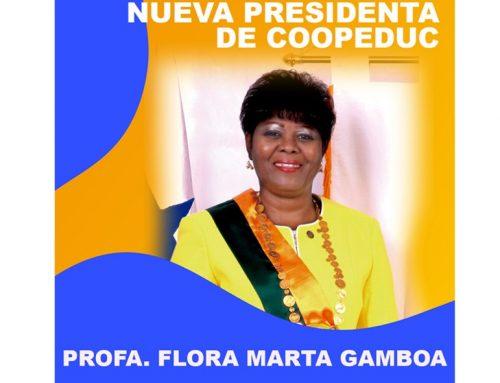 Presidenta de la Junta de Directores de COOPEDUC, R.L. 2021-2022