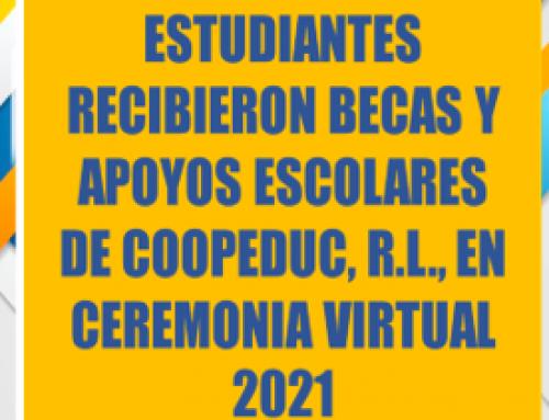 Estudiantes recibieron becas y apoyos escolares de COOPEDUC, R.L.