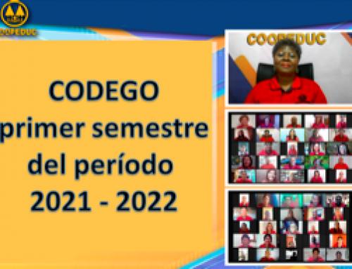 CODEGO primer semestre del período 2021 – 2022